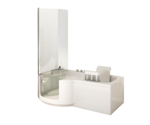 Aquamarine P shaped power bath