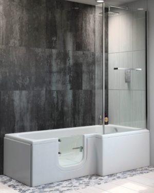 Sabre Glass easy access shower bath
