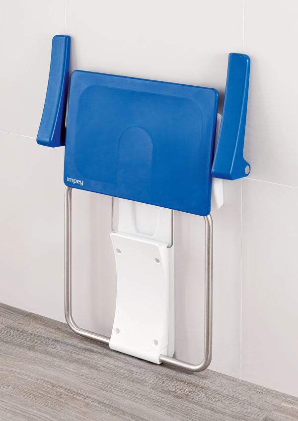 Slimfold shower seat blue