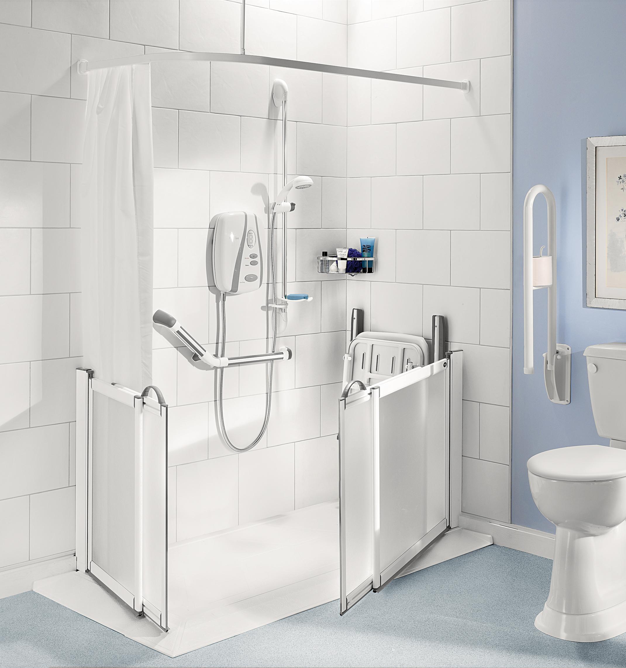 Half height shower doors