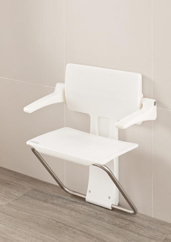 Slimfold shower seat white